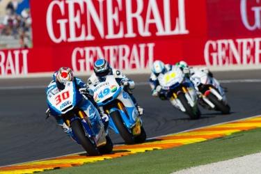 Moto3 Riders during the Moto GP Grand Prix Generali Comunitat Valenciana qualifying session at Circuit de la Comunitat Valenciana Ricardo Tormo on November 9, 2013 in Valencia, Spain. (Photo by GinŽs Romero/Madrid Photosport)
